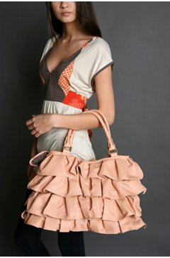 UO Deux Lux Ruffle Bucket bag $68
